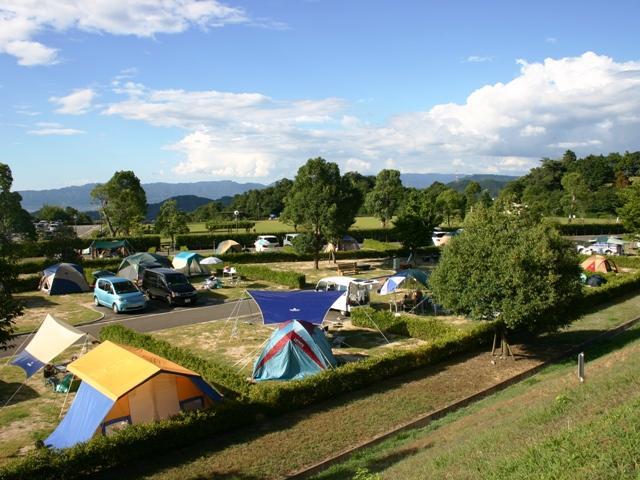 紀美野町的咬住,是接觸公園自動露營地