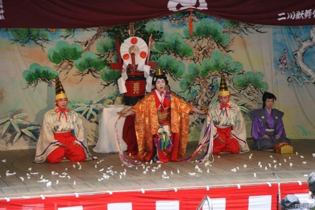 二川歌舞伎芝居「寿式三番叟」