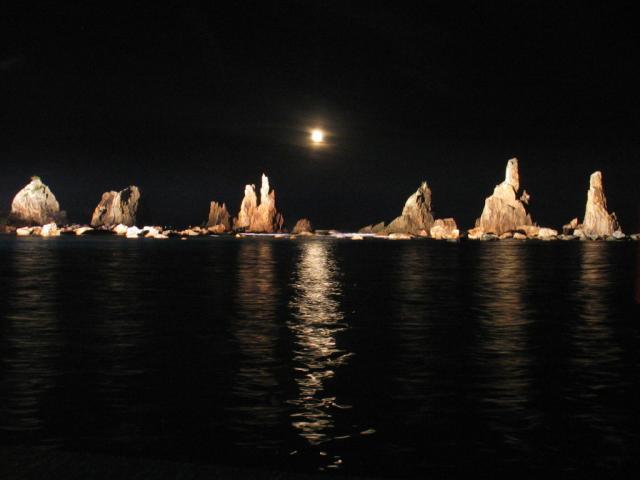 橋杭岩ライトアップ