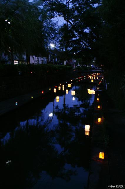 加茂川とうろう流し