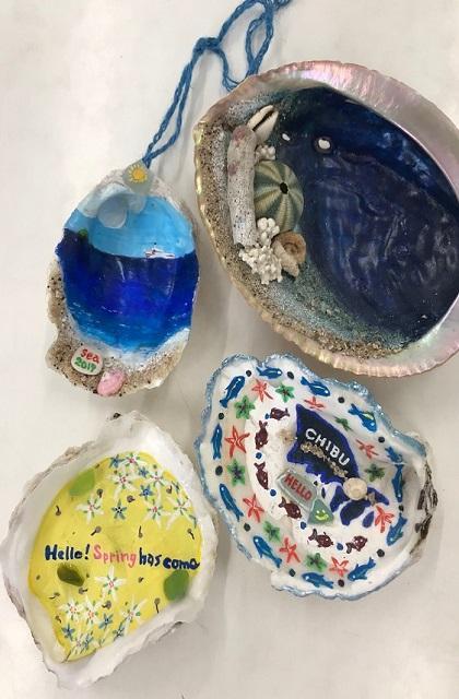貝殻オブジェ製作体験