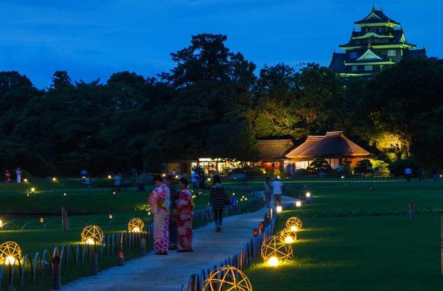 岡山後楽園 夜間特別開園「夏の幻想庭園」
