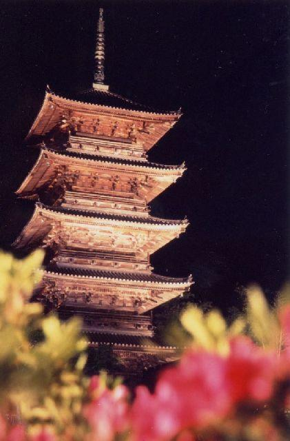 Bicchu Kokubun-ji Temple Five-story Pagoda Light Up★IV3401