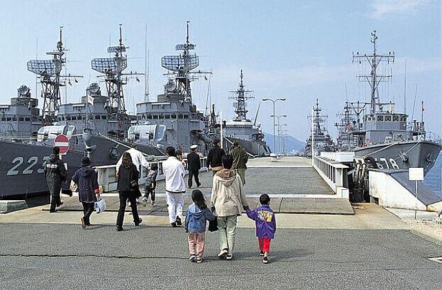 海上自衛隊呉基地の護衛艦等の一般公開