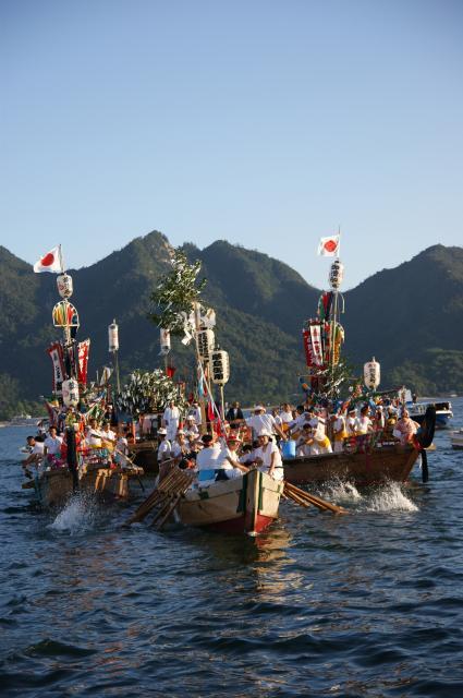 管絃祭〈御座船の渡御は中止になりました〉