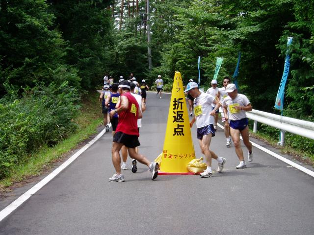 聖湖マラソン風景