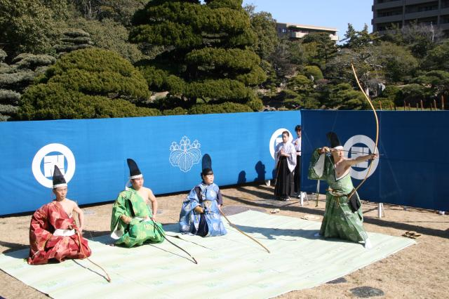 Tokushima Castle traditional military demonstration