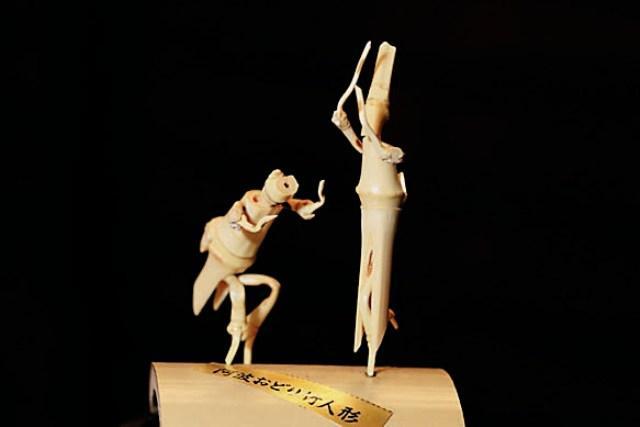 阿波踊り竹人形