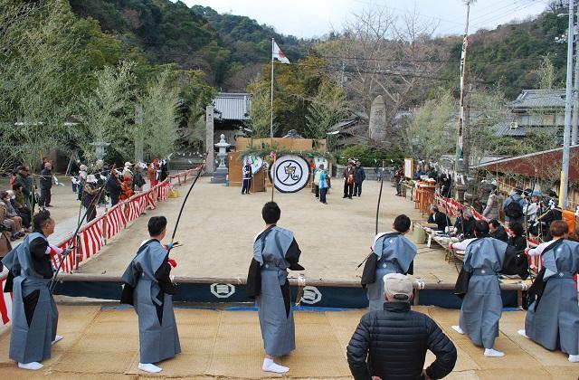 姫子島神社弓祈祷