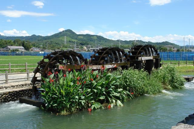 堀川灌溉用水以及朝倉抽水車