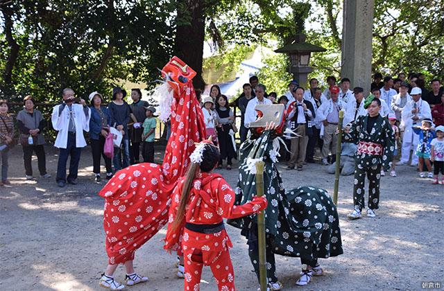 恵蘇宿区の獅子舞