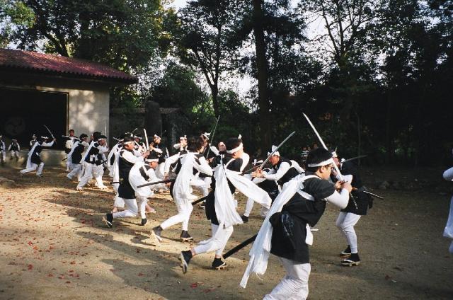 正八幡神社の杖楽