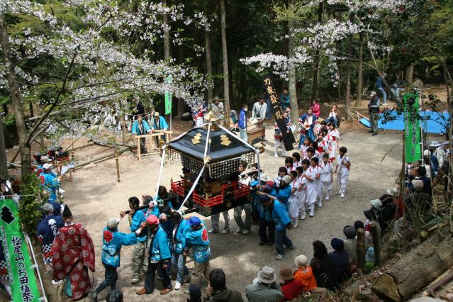 松尾山のお田植祭