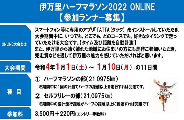 伊万里ハーフマラソン2022 ONLINE