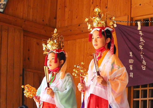 矢俣八幡神社 奉納稚児舞
