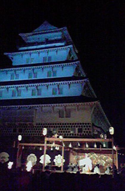 The 37th Shimabara-jo Castle bonfire noh