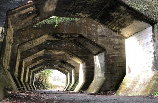 八角トンネル(熊延鉄道遺構)