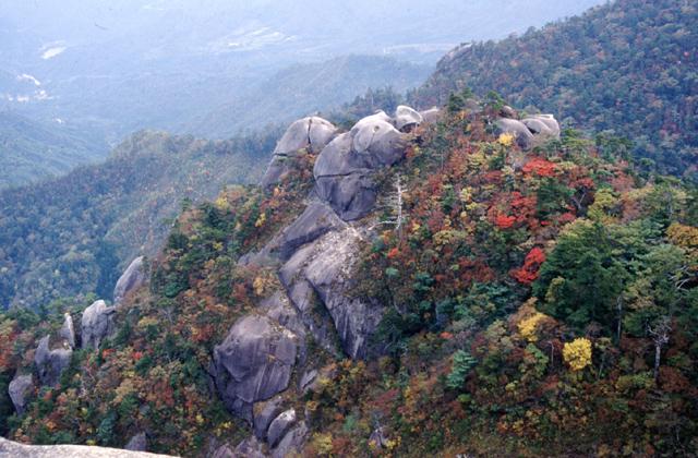 大崩山の紅葉