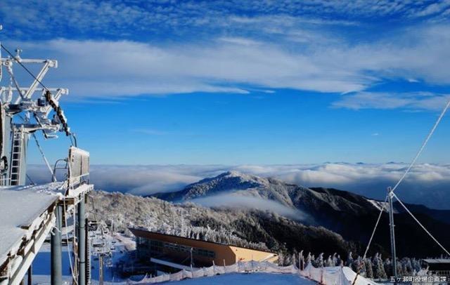 五ヶ瀬ハイランドスキー場リフト頂上眺望