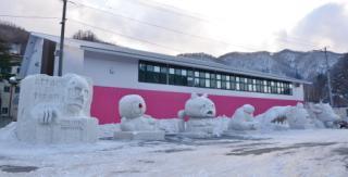 machinaka雪節、雪人道路