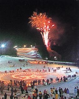 eboshi在雪上煙火大會