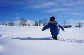 一面の雪海原(ゆきうなばら)