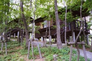 古代的山岡木製小房