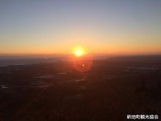 日本一早い山開き!第41回鹿狼山元旦登山