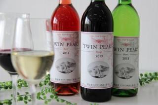 """筑波生產葡萄100%葡萄酒""""TWIN PEAKS"""""""