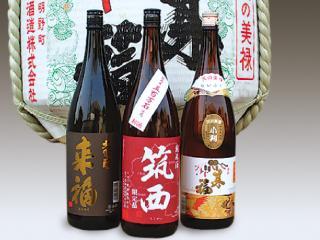 来福(小判・芋焼酎・大吟醸)筑西(純米酒)