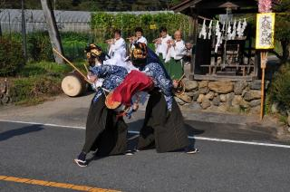 宗吾神社祭り(長留の獅子舞)