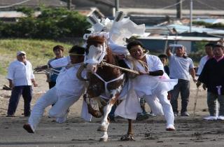 吾妻神社の馬だし祭り