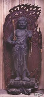 銅造不動明王立像