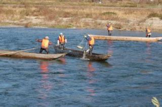 鮭の居繰網漁