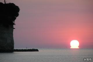 日本の朝日百選・氷見海岸の朝日