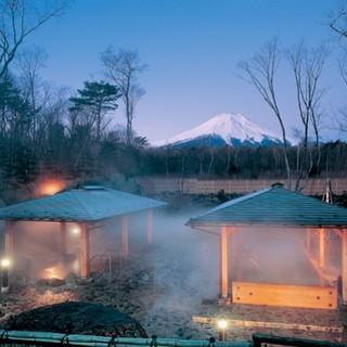 Hot water morning bath of Lake Yamanaka hot spring rouge Fuji