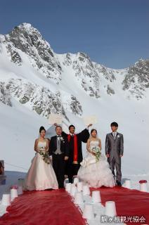 中央アルプス 純白の結婚式