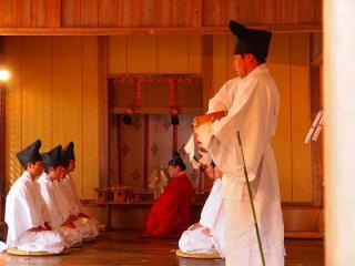 国宝仁科神明宮 祈年祭(古式作始めの神事)