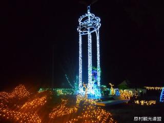 原村莊星空的彩燈