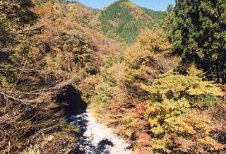 早木戸川渓谷