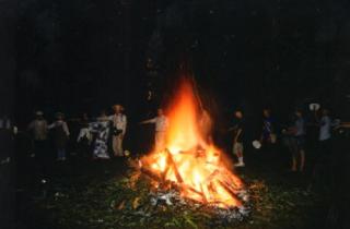 妻籠宿の火祭り
