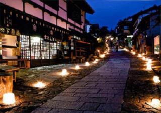 木曽路 氷雪の灯祭り(中津川市馬籠宿)