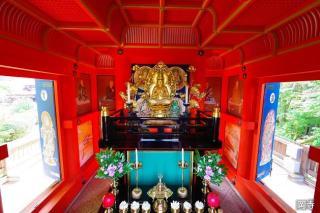 岡寺開山忌野點茶會、三重的寶塔首次的層壁畫門繪畫特別公開