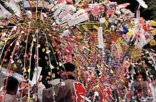 物見神社の花祭り