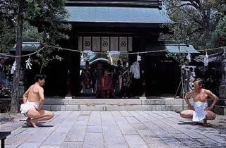 玉祖神社的占卜者手祭神儀式