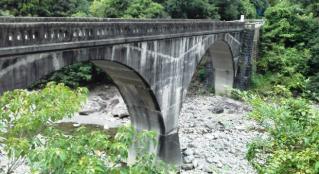 旧魚梁瀬森林鉄道二股橋