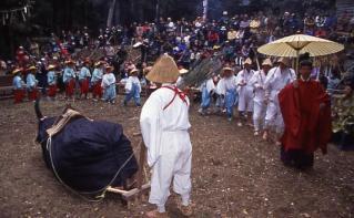 求菩提山のお田植祭(求菩堤山の松会)