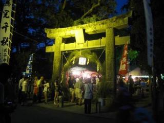 現人神社夏越祭(渡過車輪的節日)