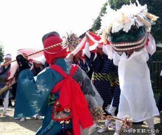 宇佐八幡神社 奉納浮立