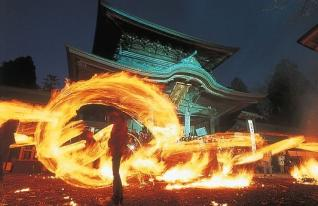 Hiburi Shinji (a Shinto ritual of waving torches)